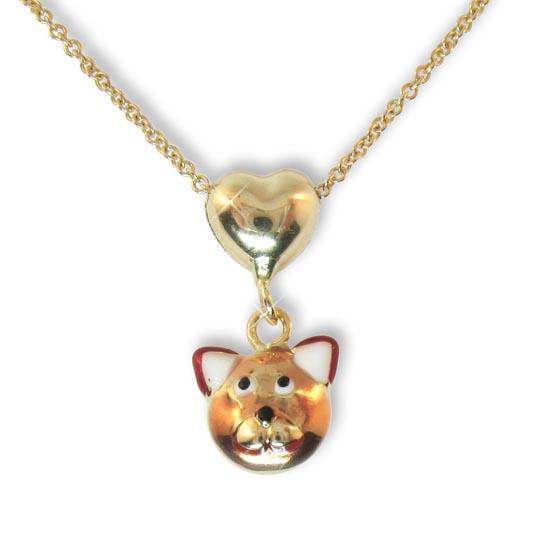 Anhänger Katze Gold 585 Goldanhänger goldenes Kätzchen kleine Goldkatze 14 Karat